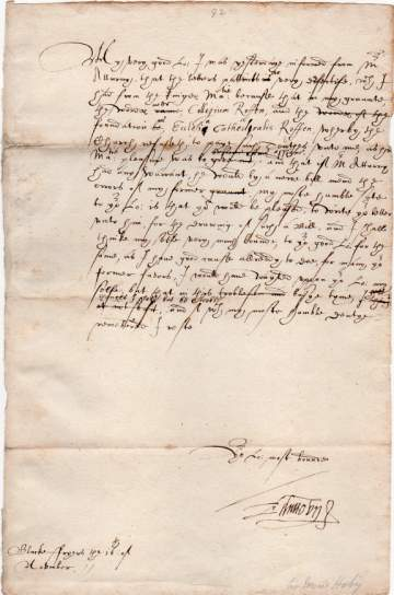 send a letter hoby edward letters autographs documents manuscripts 1617